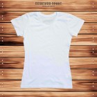 Белая женская футболка (без нанесения)